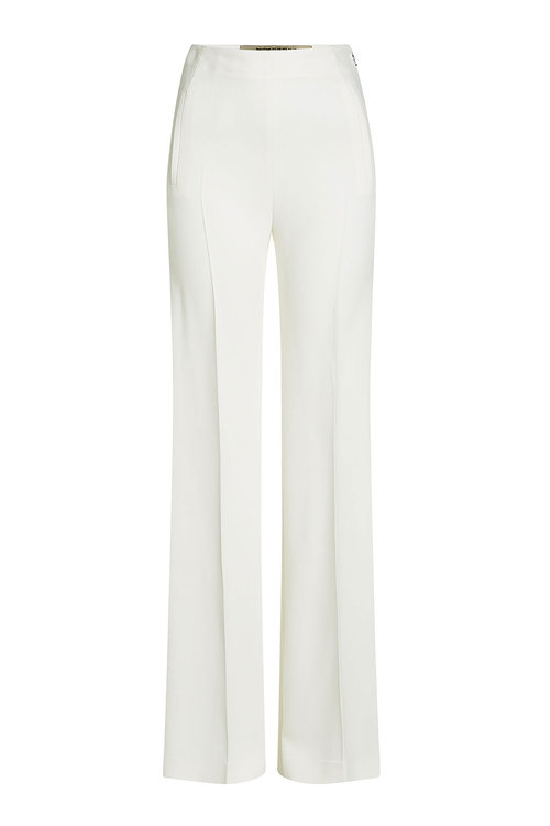 Roland Mouret High-Waist Wide-Leg Pants, White