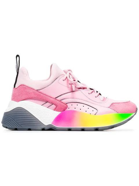 Stella Mccartney 'Eclypse Rainbow' Sneakers In Pink