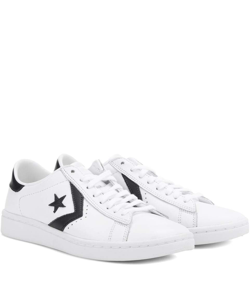 5ec0346118aa0a Converse Women S Pro Leather Lp Casual Sneakers From Finish Line In White   Obsidian  White