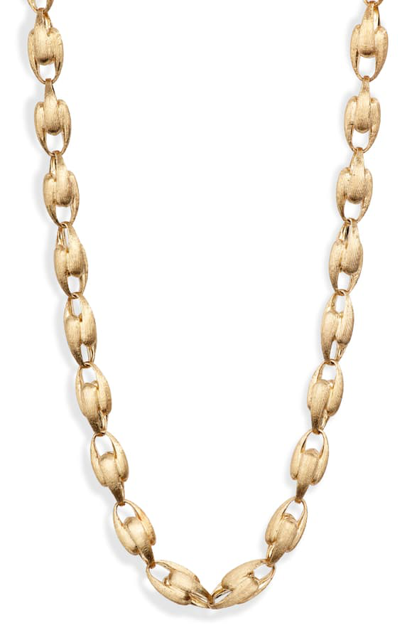 Marco Bicego 18K Yellow Gold Lucia Small Chain Link Necklace, 17.75