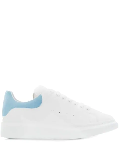 Alexander Mcqueen Runway Suede-Trimmed Leather Platform Trainers In White