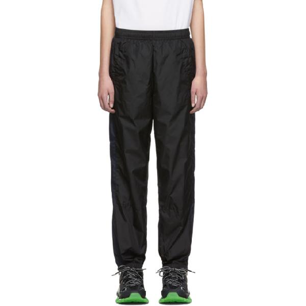 Acne Studios Phoenix Face Nylon Track Pants In Black