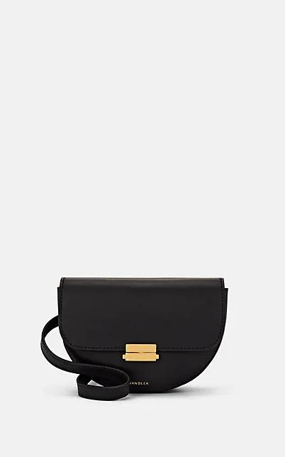 Wandler Anna Smooth Leather Shoulder Bag In Black