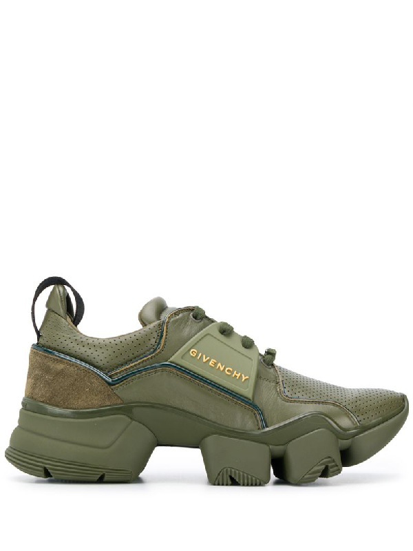 Givenchy Jaw Leather & Suede Sneakers In Green