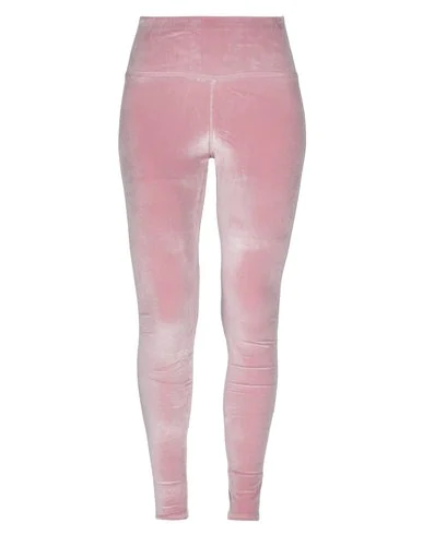 Plein Sport Velvet Leggings In Pink