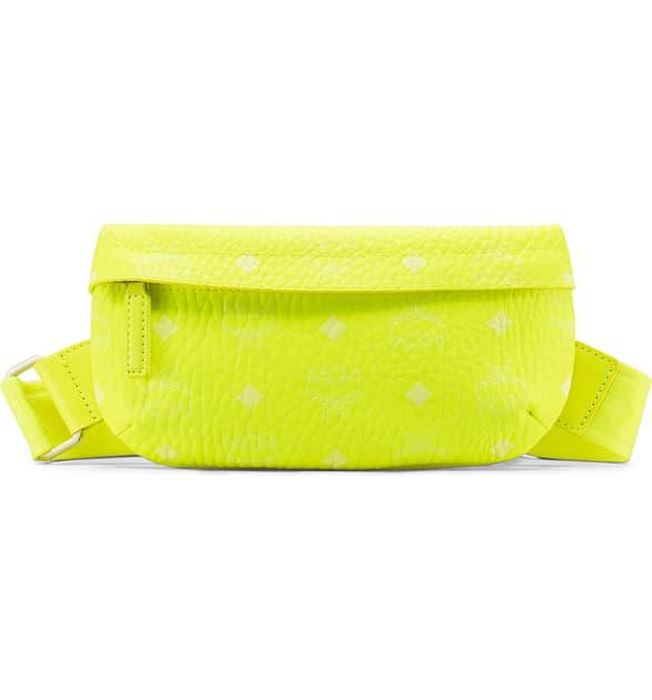 184f2ddc0 Mcm Small Visetos Original Crossbody Bag - Yellow In Neon Yellow ...