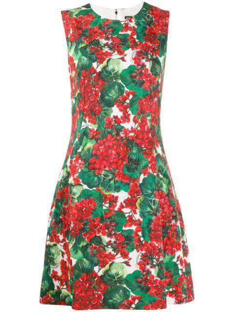 Dolce & Gabbana Portofino Print Dress In White