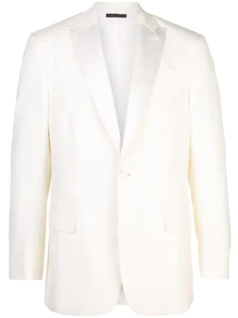 Brioni Classic Fitted Blazer In White
