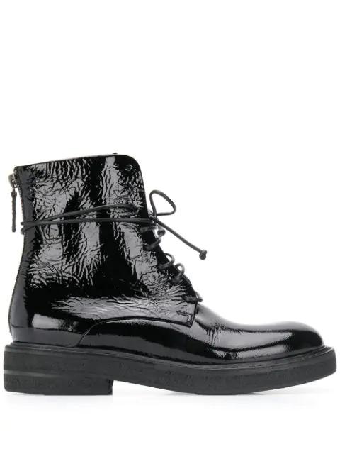 Marsèll Varnished Ankle Boots In Black