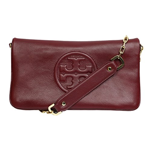 eb17b5c37a9 Tory Burch Bombe Reva Leather Clutch & Shoulder Bag In Red Agate ...