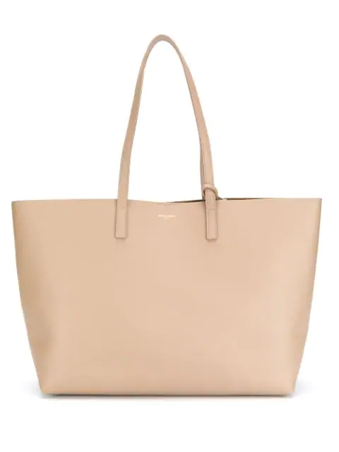 Saint Laurent Shopping Tote Bag In Neutrals