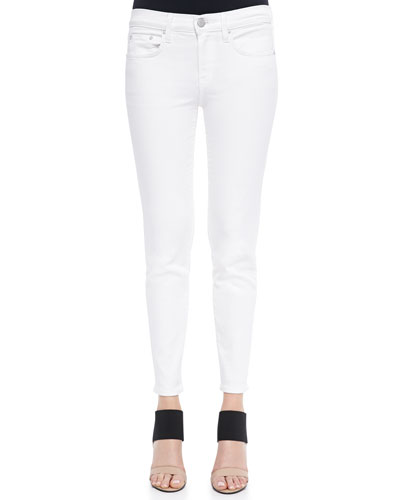 Vince Dylan Ankle Skinny Jeans In Optic White