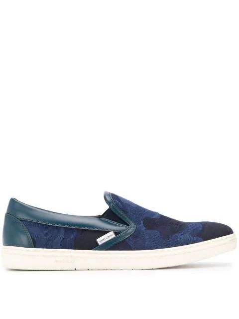Jimmy Choo Grove Slip-on Sneakers In Blue