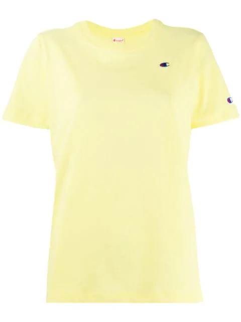 Champion Logo Embroidered T-shirt In Yellow