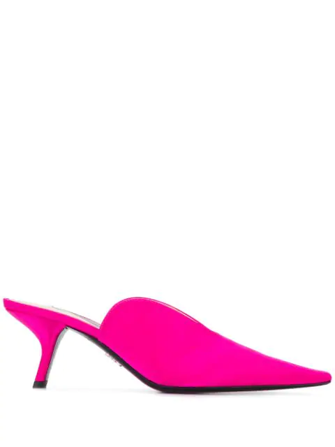 Prada Pointed Toe Pumps In Pink
