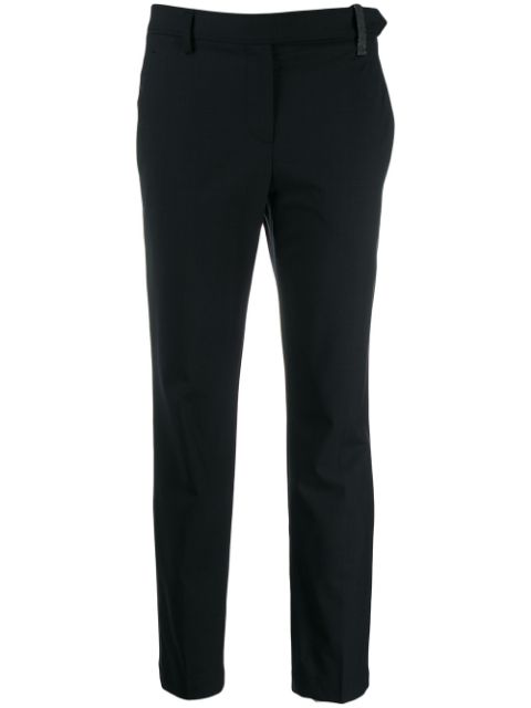 Brunello Cucinelli Cropped Trousers In Blue