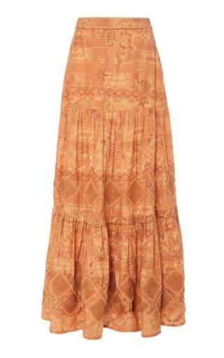 Chufy Miski Cotton Maxi Skirt In Brown