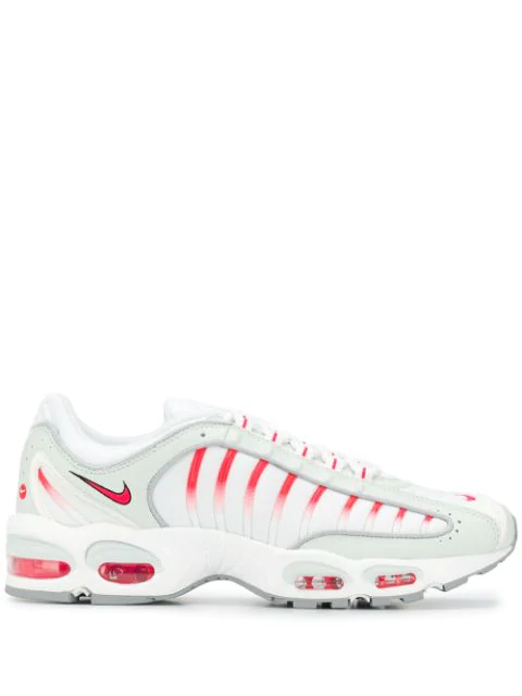 Nike Air Max Tailwind Iv Mesh And Leather Sneakers In Ghost Aqua Red Orbit Wolf