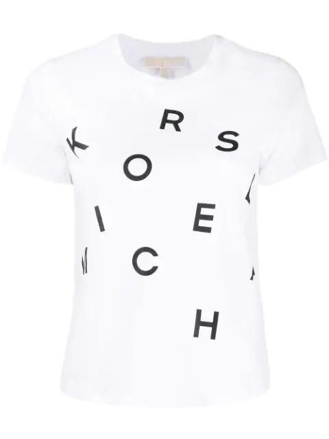 Michael Michael Kors T-Shirt With Logo Print In White