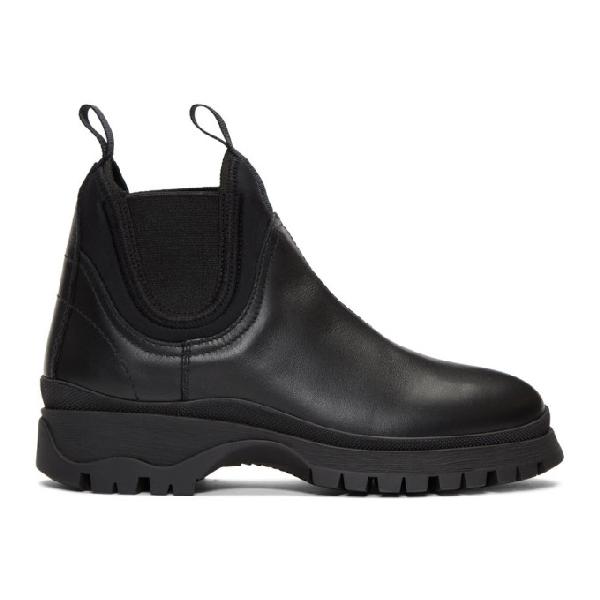 Prada Rodeo Neoprene Chelsea Boots In Black