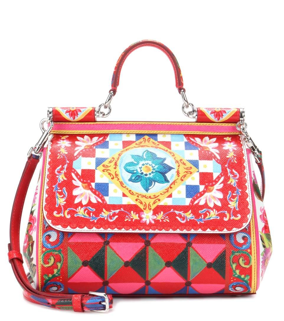 162af68704 Dolce   Gabbana Sicily Medium Printed Textured-Leather Shoulder Bag In  Carretto Coe Rose