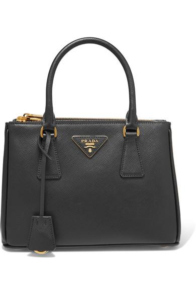 0fac1543 Saffiano Mini Double-Zip Tote Bag, Black