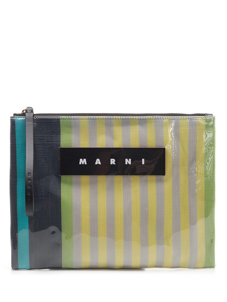 Marni Glossy Small Clutch In Multi