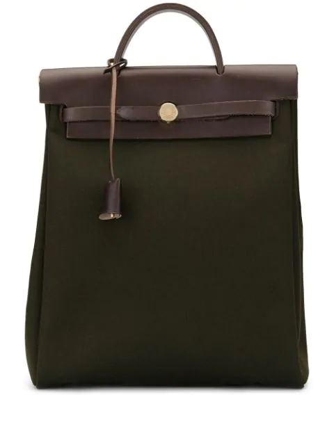 Hermes Pre-owned Her Bag Ado Pm Backpack Hand Bag In Green