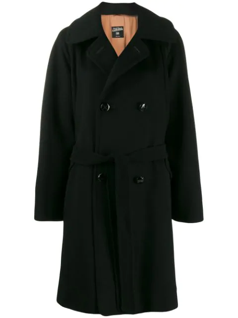 Pre-owned Jean Paul Gaultier 1990's Wide-sleeve Coat In Black