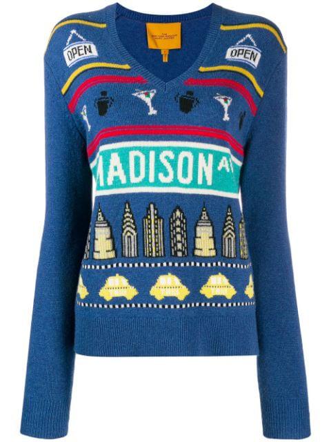 Marc Jacobs New York Sweatshirt In Blue