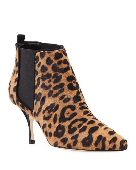 de413196cc7c9 Manolo Blahnik Dildi 70Mm Leopard-Print Fur Booties | ModeSens