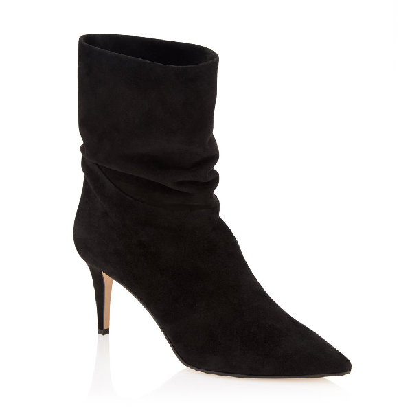Tamara Mellon Icon High-Heel Ankle Slouch Boots In Black
