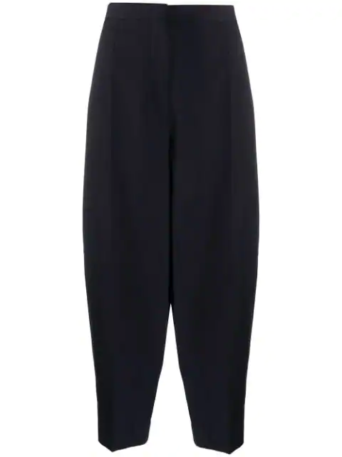 Jil Sander Boxy Cropped Trousers In Blue