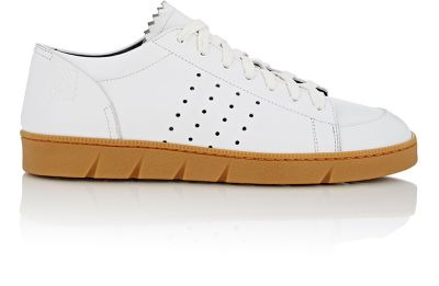 Loewe 20Mm Perforated Leather Sneakers In White