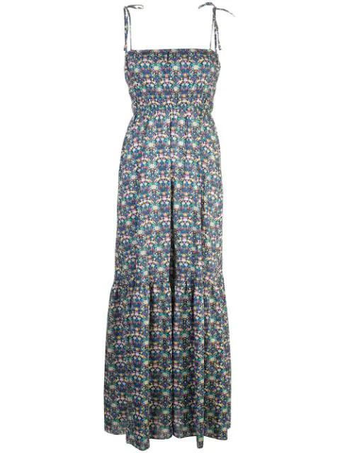 Cynthia Rowley Azores Maxi Dress In Blue