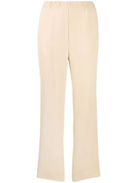 Forte Forte High-waisted Trousers In Neutrals