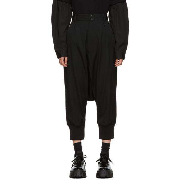Regulation Yohji Yamamoto Black Sarouel Trousers In 1 Black