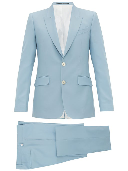 Givenchy Light-Blue Slim-Fit Wool-Twill Suit In Light Blue