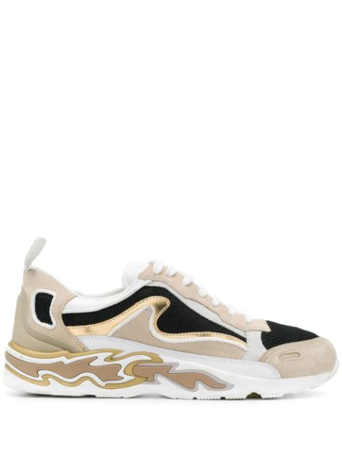 Sandro Flame Sneakers In Neutrals