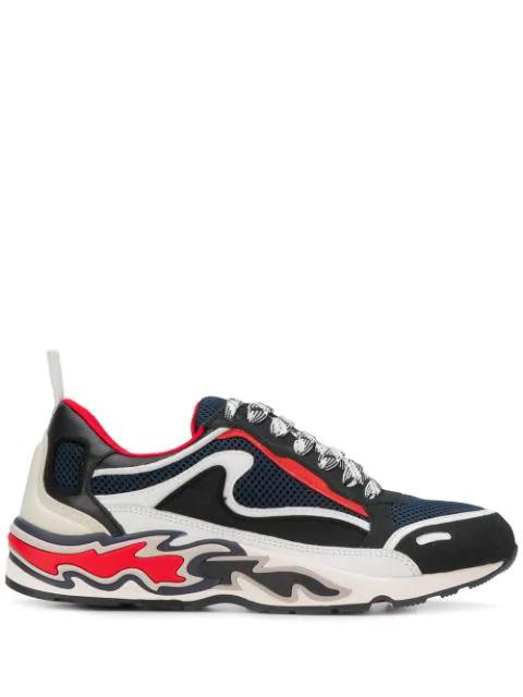 Sandro Flame Sneakers In Marine FoncÉ