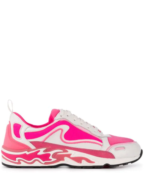 Sandro Flame Sneakers In Pink