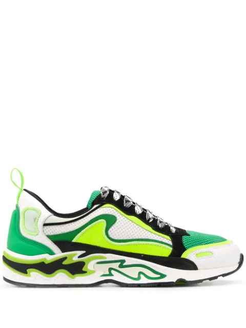 Sandro Flame Sneakers In Green