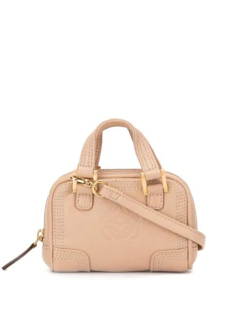 Loewe Micro Mini Amazona 2way Mini Hand Bag In Neutrals