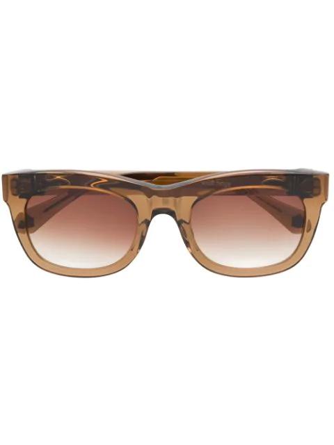 Matsuda M1020 Square Sunglasses In Brown