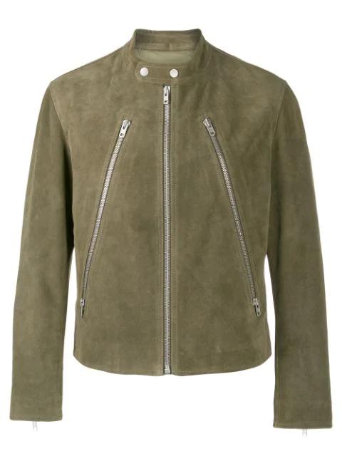 Maison Margiela Zip Detail Jacket In Green