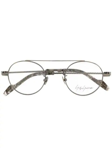 Yohji Yamamoto Round Frame Glasses - Grey