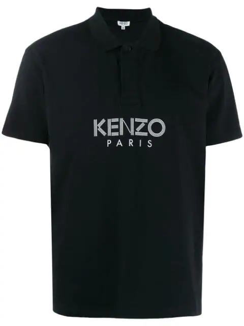 Kenzo Paris Polo Shirt In Black