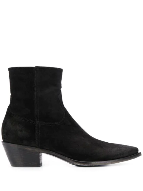 Fabiana Filippi Low Heel Boots In Black