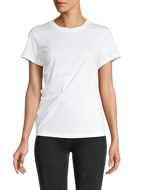 Proenza Schouler Soft Twisted T-shirt In White