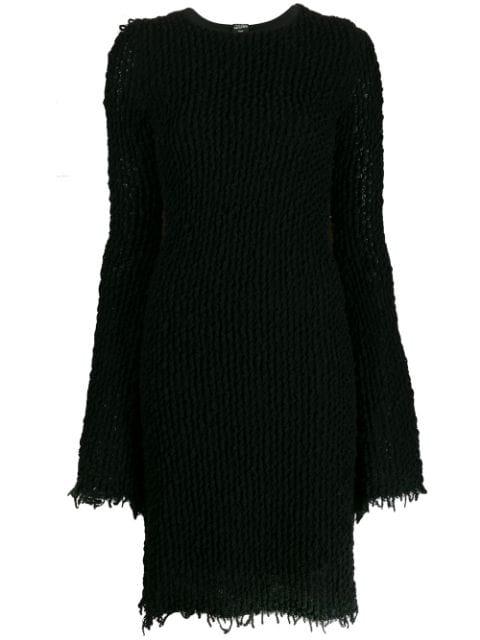 Jean Paul Gaultier '1990s Knitted Dress In Black